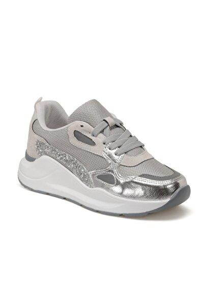 Torex Scarlet W Gümüş Kadın Kalın Taban Sneaker Spor Ayakkabı