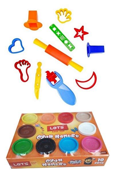 Lets 10 Renk 750 Gr Oyun Hamuru Ve Nova Color Küçük Şekiller Hamur Kalıpları