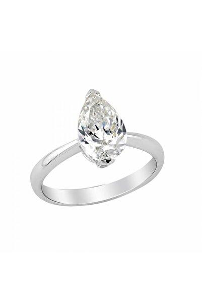 So CHIC... Creative Diamond Damla Tek Taş Gümüş Yüzük