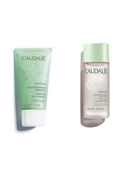 Caudalie Travel Sıze Set Vinopure Arındırıcı Temizleme Jeli 30 Ml + Vinopure Clear Skin Purifying Tonik 50 Ml
