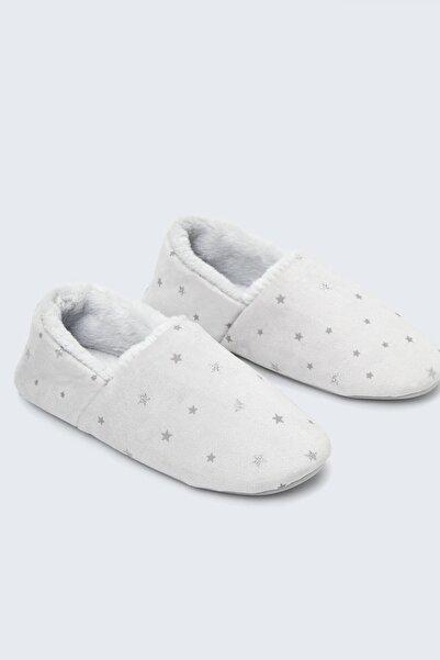 Oysho Kadın Gri Yıldızlı Ev Ayakkabısı