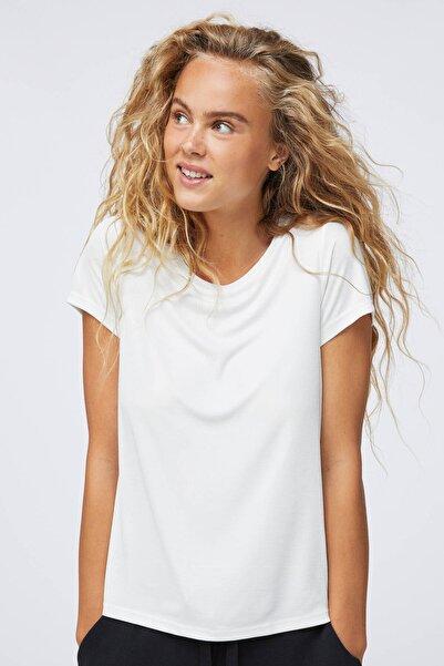 Oysho Kadın Ekru Modal Fitilli Tişört