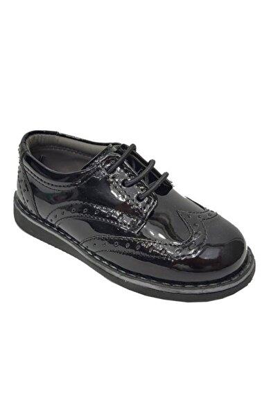 Sarıkaya Erkek Çocuk Siyah Rugan Cırtlı Ayakkabı 3070-20