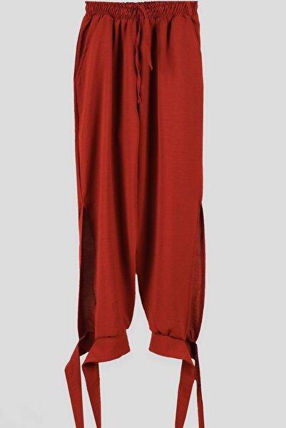 Breeze Kız Çocuk Pantolon Paçaları Bağcıklı Kahverengi (9-14 Yaş)