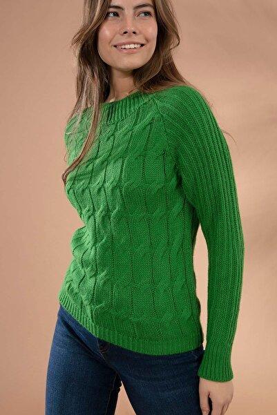Y-London Kadın Yeşil Triko Kazak Y19W109-80137