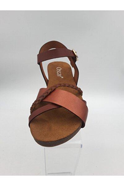 Oscar Kadın Kızıl Taba Sandalet