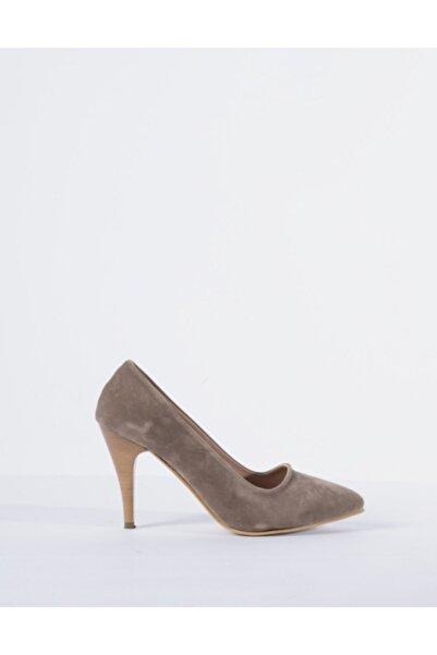 Vision Kadın Vizon Süet Topuklu Ayakkabı