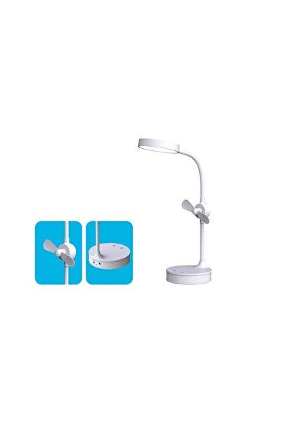 S-LINK Sl-8740 Masa Üstü Ledli Fanlı - Aynalı Makyaj Ve Okuma Lambası