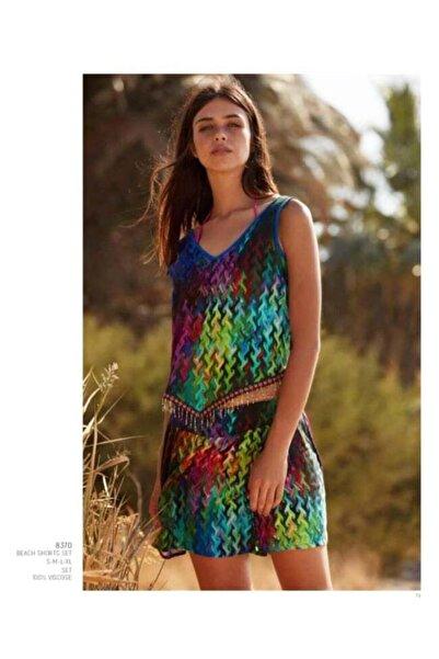 Penyemood Kadın Mavi Plaj Elbisesi 8680063019427