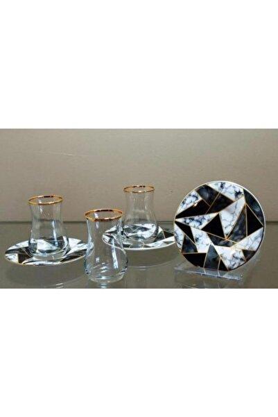 çerçi Homechic Carat Çay Seti 6 Kişilik Marble