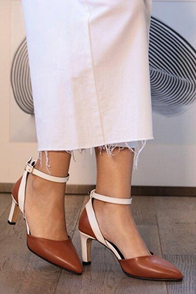 Mio Gusto Luna Taba Renk Topuklu Ayakkabı