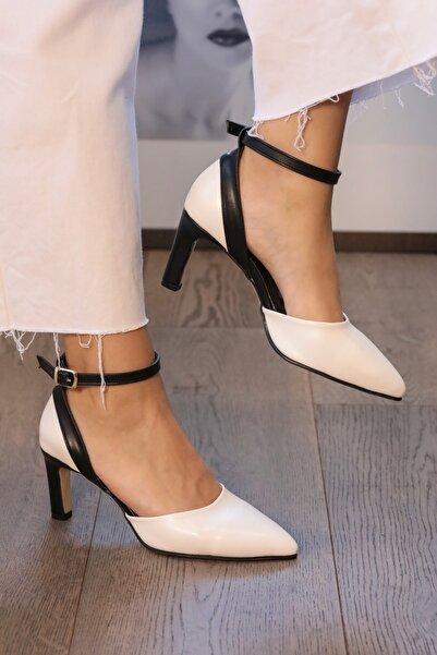 Mio Gusto Luna Beyaz Renk Topuklu Ayakkabı