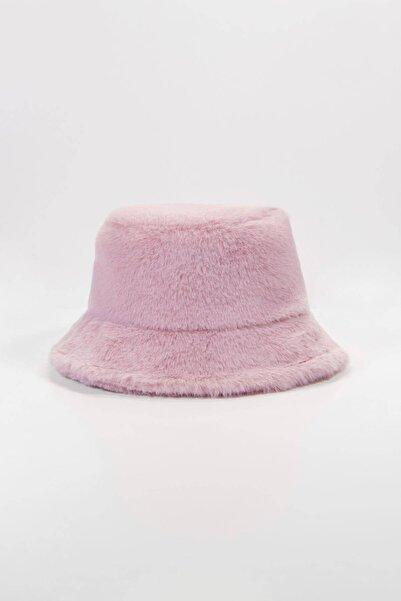 Addax Kadın Pudra Yumuşak Dokulu Bucket Şapka Şpk1032 - F1 Adx-0000022935