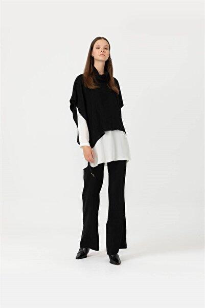 SEÇİL Scl Fitilli Geniş Paçalı Pantolon 3082 Siyah