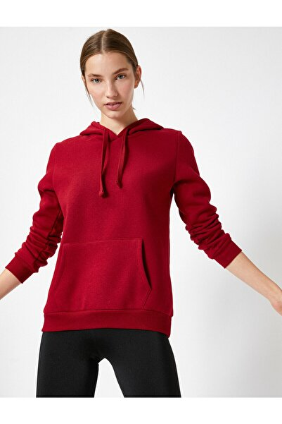 Koton Kadın Bordo Sweatshirt 504849005