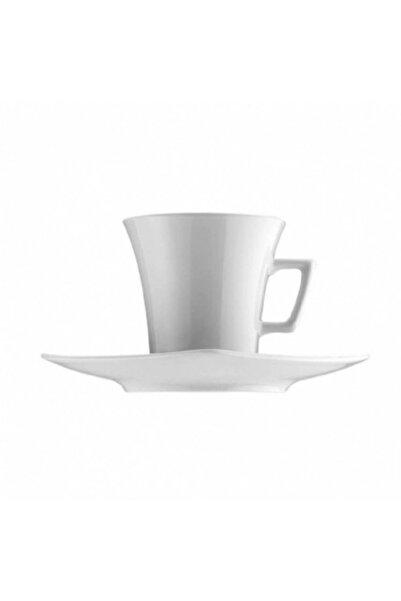 Kütahya Porselen Medusa Kahve Fincanı Tabaklı Dekorsuz 6'lı