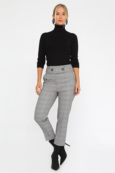 Chima Kadın Siyah İki Düğmeli Pantolon K20PA063