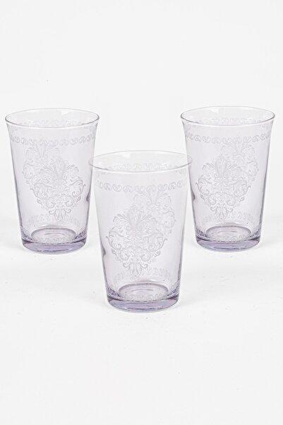 Rakle Rustic 3'lü Su Bardağı Seti Mor