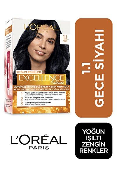 L'Oreal Paris Saç Boyası - Excellence Intense No: 1.1 Yoğun Siyah 3600522822226