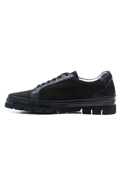 Ferre Erkek Siyah Deri Sneaker Ayakkabı