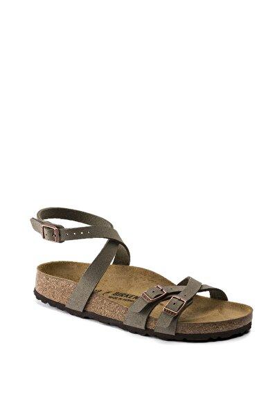 Birkenstock Blanca Bf Nubuck Stone Sandalet