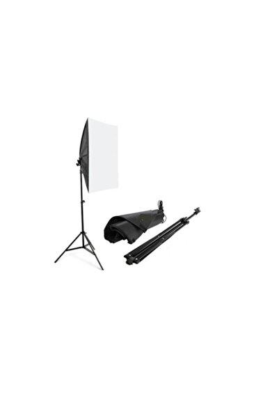 ADA GREENBOX Erkek Siyah Softbox Sabit Işık Seti 50x70 Cm- 105 Wat (500 Wat Çıkış Gücü)+2m Işık Ayağı