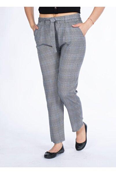 Vision Kadın Gri Ekoseli Pantalon