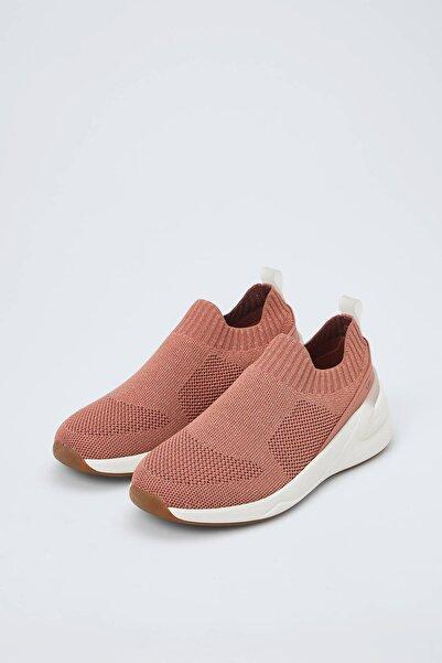 Oysho Kadın Koyu Pembe Çorap Tarzı Spor Ayakkabı