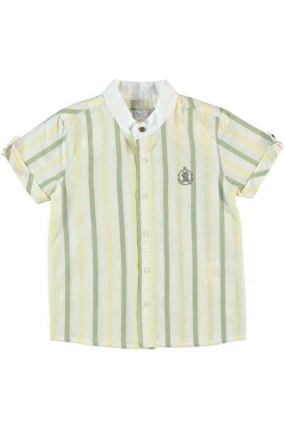 Monna Rosa Erkek Çocuk Haki Çizgili  Gömlek