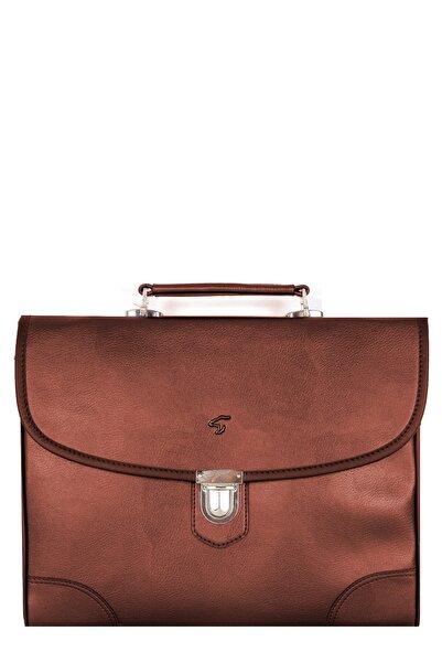 Famebag Erkek Kahverengi Laptop ve Evrak Çantası