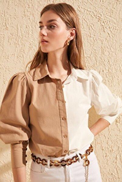 Taş Manşet Detaylı Gömlek TWOSS20GO0065