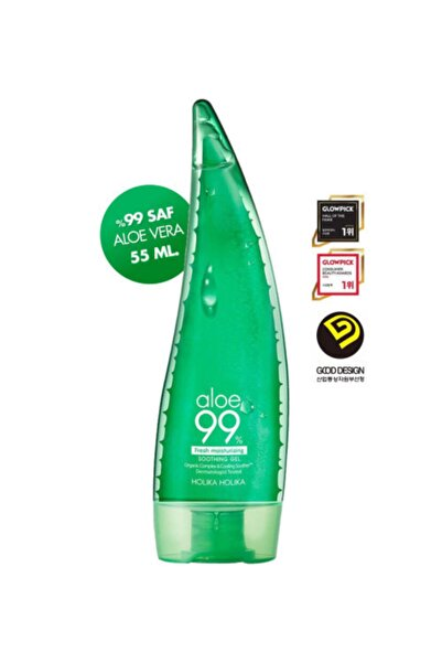 Holika Holika Aloe Vera Jeli - Aloe 99% Soothing Gel 55 Ml Küçük Boy