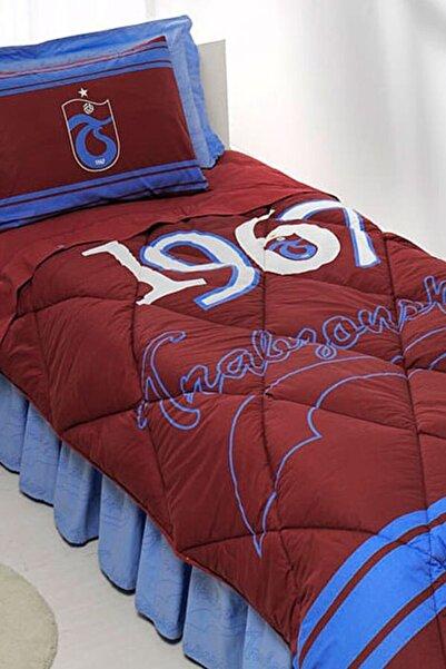 Taç Trabzonspor Logo Tek Kişilik Pamuk Uyku Seti