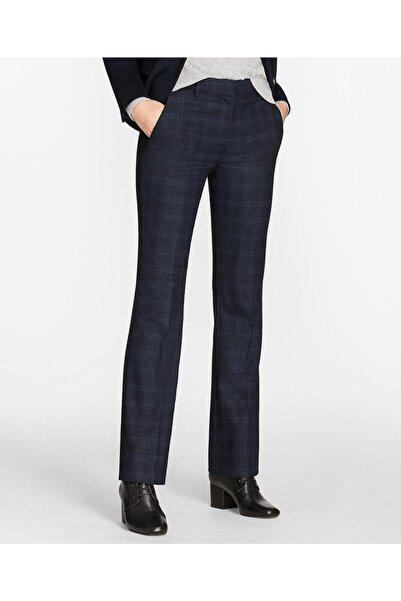 BROOKS BROTHERS Kadın Lacivert Ekose Desenli Pantolon
