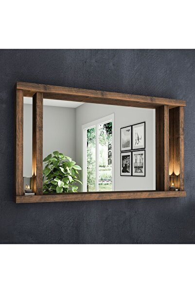 222 Concept Masif Ağaç Meşe Rengi 75x45 cm Ayna