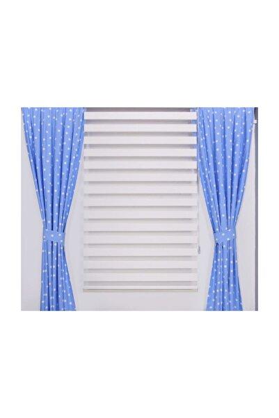 Odeon 75 x 260 Mavi Yıldızlı Fon Perde