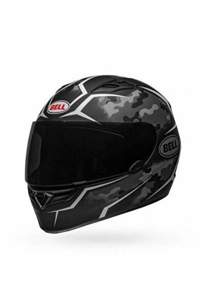 Bell Qualifier Stealth Camo Mat Siyah Beyaz Motosiklet Kaskı