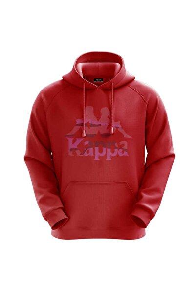 Kappa Erkek Kapüşonlu Sweatshirt Clohe Kırmızı