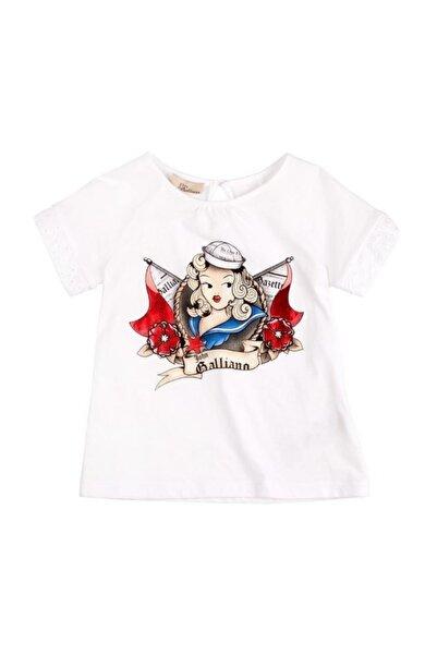 John Galliano Erkek Çocuk Beyaz Baskılı T-Shirt