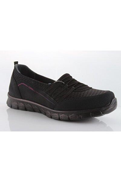 Forelli Streç Siyah Kadın Spor Ayakkabı 61014