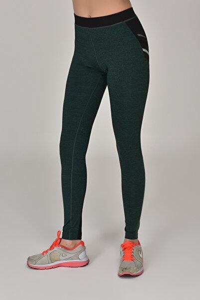 bilcee Yeşil Kadın Sporcu Tayt AW-6570