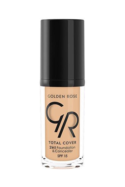 Golden Rose 2'si 1 Arada Fondöten & Kapatıcı - Total 2 In 1 Foundation & Concealer No:3 8691190963637