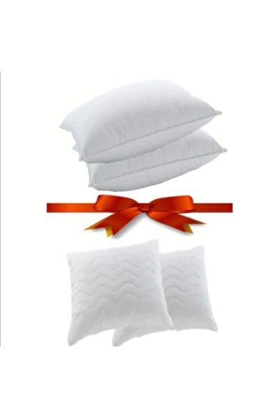 Şahin %100 Boncuk Silikon Fermuarlı Yastık 50×70 Cm 800 Gram +2 Adet Kapitoneli Yastık Alezi Hediyelieli