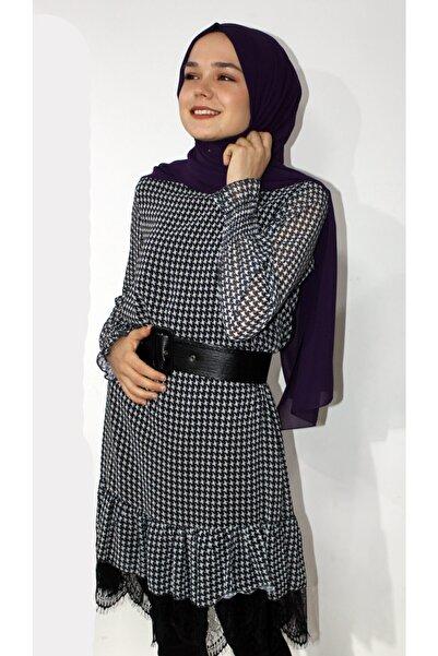 Estella Kadın Siyah Şifon Elbise