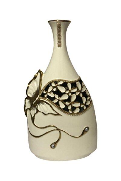 çerçi Dekoratif Kelebekli Vazo-çiçek Vazosu