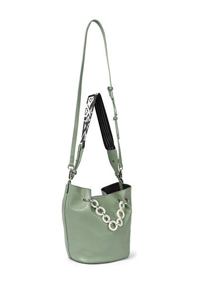 Twist Kadın Yeşil Zincir geçişli kol çantası TW6200052031