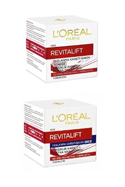 L'Oreal Paris Revitalift Gündüz Kremi 50ml+ Gece Kremi 50ml Set