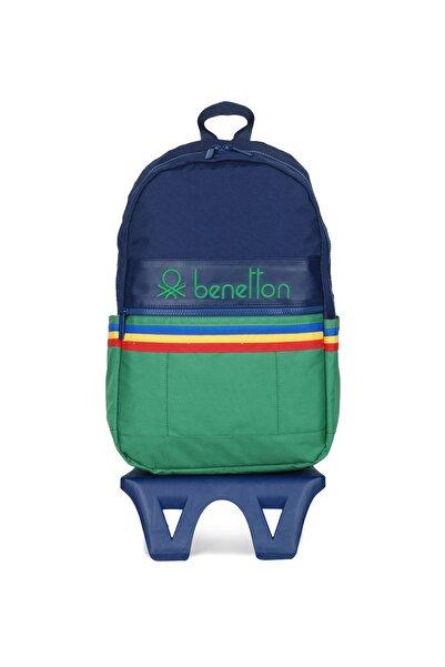 United Colors of Benetton Unisex Benetton Iki Bölmeli Tekerlekli Sırt Çantası 70039