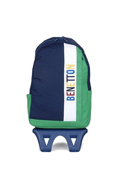 United Colors of Benetton Unisex Benetton Dikey Ön Cepli Tekerlekli Sırt Çantası 70066