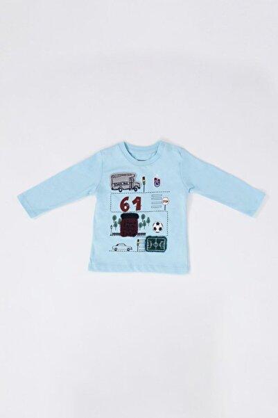 TSCLUB Bebek Mavi Sweatshırt 61 Logolu